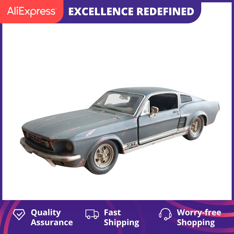 Maisto 1967 <font><b>Ford</b></font> <font><b>Mustang</b></font> GT Car Model 1: 24 <font><b>Mustang</b></font> to Do the Old Model Alloy Car Model Precious Collection for Gift image