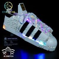 Kyglaring Led Beleuchtung Set DIY Spielzeug für Creation 10282 Originals Superstar Turnschuhe Blöcke Gebäude (Nur Licht Kit Enthalten)