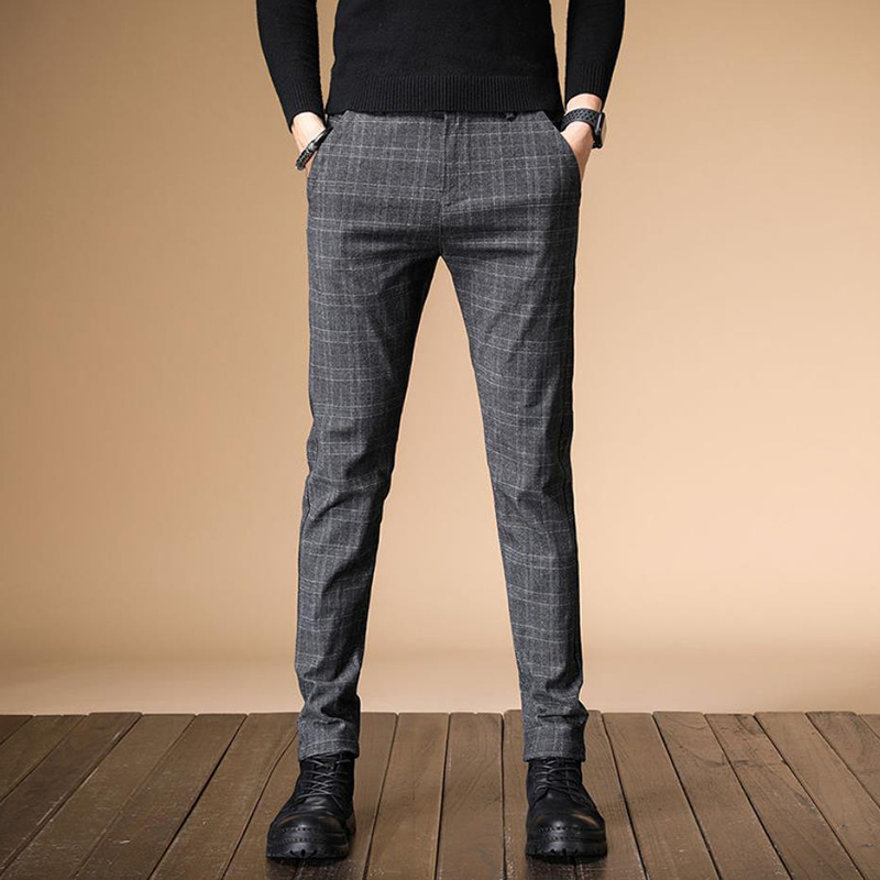 Image 4 - 2020 New Design Upscale Men Casual Pants Cotton and linen Slim Male Pant Straight Trousers Business Pants Men Plus Size 38Casual Pants   -
