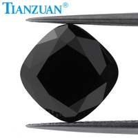 Black color 5 12mm white cushion shape dia mond cut Sic material moissanites loose gem stone