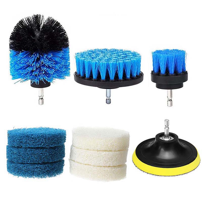 Best 10Pcs/Set Power Scrubber Brush Drill Brush Cleaning Bathroom Surfaces Cleaning Tool Tub Shower Tile Grout Cordless Scrub Cl