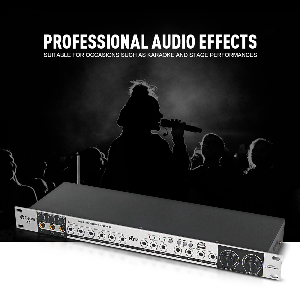 Professional A6 Digital Bluetooth effect processor sound controller system equipment full-function effect karaoke
