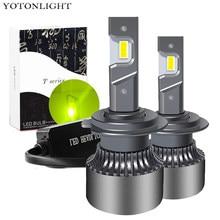 Hb3 Hb4 H7 H4 H11 H1 lampadina a Led H3 9005 9006 lampada faro a Led per auto 9004 9007 H13 9012 Hir2 H8 fendinebbia 55w 16000lm verde limone