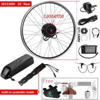 YOSE POWER Ebike Kit Conversion Bike Electric with Battery 36V 350W 26'' Cassette Brushless gear Hub Motor Wheel Engine Kit