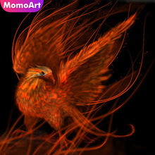 MomoArt Diamond Painting Animal Phoenix Mosaic Full Drill Square Rhinestone Embroidery Home Decor