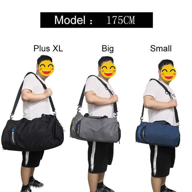 Men Gym Bags For Training Bag Tas Fitness Travel Sac De Sport Outdoor Sports Swim Women Dry Wet Gymtas Yoga Shoes Bag XA103WA 3