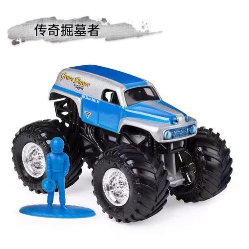 1: 64 оригинальные горячие колеса гигантские колеса Crazy Barbarism Монстр металлическая модель грузовика игрушки Hotwheels большая ножная машина детский подарок на день рождения - Цвет: b