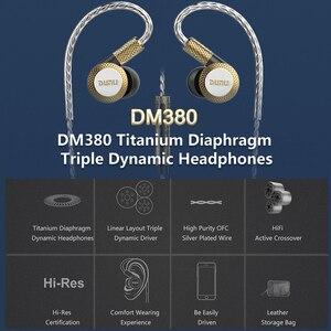 Image 2 - DUNU DM380 Linearlayout Triple Titanium Diafragma Driver In Ear Oortelefoon HiFi Actieve Crossover met MIC/3 knoppen Gemakkelijk Gedreven