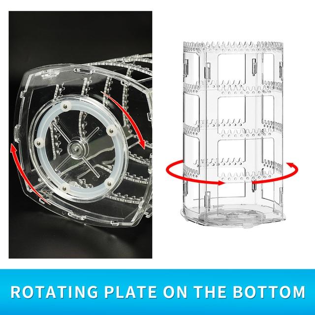 360 rotating earring holder stand