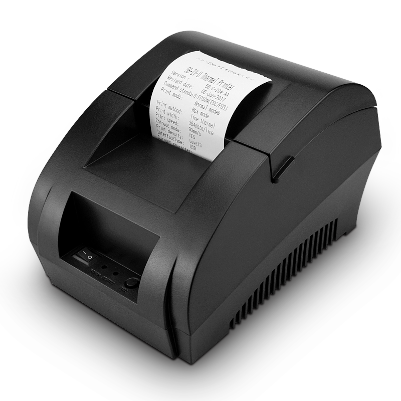 Zjiang 58mm Thermal Receipt Printer POS Printer Ticker Check For Restaurant And Supermarket Support Cash Drawer