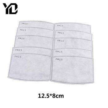 10Pcs 5 Layers PM2.5 Filter Paper Anti Haze Mouth Mask Anti Dust Mouth Mask Filter Paper Anti Dust Air Mask Filter Insert