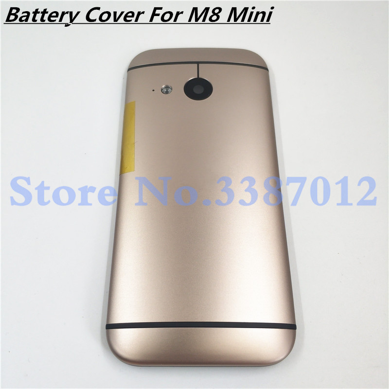 Metal Back Cover For <font><b>HTC</b></font> One Mini 2 <font><b>M8</b></font> Mini Rear Housing Back <font><b>Battery</b></font> Cover Door <font><b>Case</b></font> With Power Volume Button+Camera Lens image