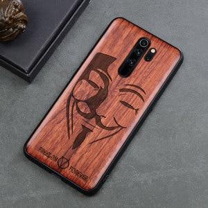 Image 4 - Phone Case For Xiaomi redmi note 8 pro Real Wood TPU Case For Xiaomi Redmi Note 7 Redmi Note 8 Pro Phone Accessories