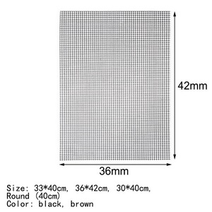 Image 5 - Security Grid BBQ Mat With Heat Resistance BBQ Mesh Grill Mat Non stick Barbecue Grilling Mats Baking Mat For Outdoor Activities