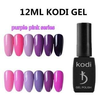 kodi 12ml professional Purple Pink Colors UV Nail Polish Pure Colorful High-Quality Need Base & Top Coat Nail Gel Polish