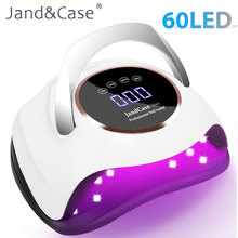 UV LED Lamp for Drying Nails Gel Polish Dryer for Manicure Salon Tools Portable LCD Display 60 LED Nail Gel Dryer Manicure Lamp