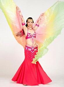 Image 2 - 2018 mais novo gradiente cores egípcio dança do ventre traje profissional isis asas (não vara) 9 cores disponíveis