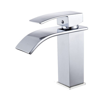 Hot cold basin faucet Waterfall Bathroom Vanity Sink Faucet Single Lever Chrome Brass Hot and cold Basin Washing Taps