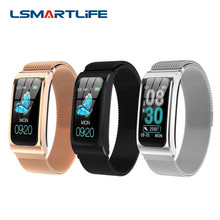 Smart Bracelet AK12 Color Screen Ip68 Waterproof Womens Watch Sphygmomanometer Menstrual Cycle Activity Monitor Sports Band