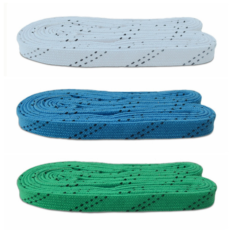Skate Laces 84in 96in 108in 120in Dual Layer Braid Reinforced Tips Waxed Tip Design Suit For Ice Hockey Skate Hockey Shoe Lace