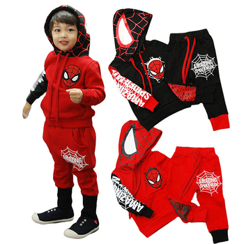 Children Clothes Spring Spiderman Toddler Boys Clothes Sets Hoodie+Pants Sports Suit Autumn Kids Clothes For Baby Boys Outfits