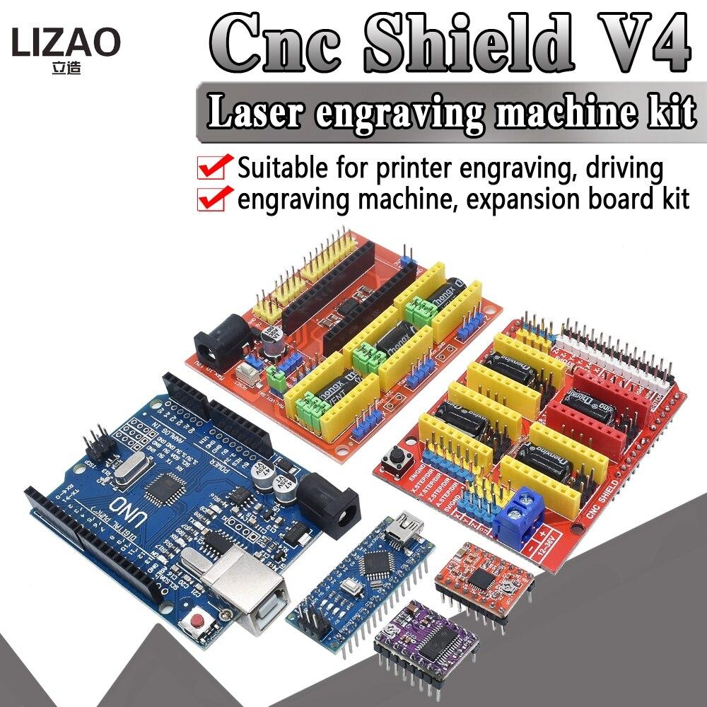 3D-принтер NANO 3,0 с ЧПУ щит V3 V4 + плата расширения драйвера A4988/DRV8825 UNO R3 с USB-кабелем