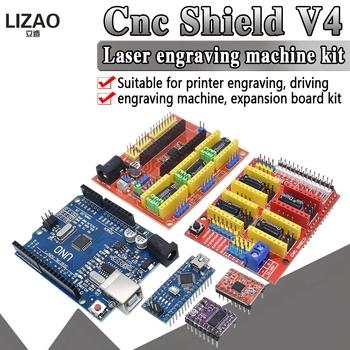 NANO 3 0 tarcza CNC V3 V4 grawerowanie maszyny drukarki 3D + A4988 DRV8825 karta rozszerzenia sterownika UNO R3 z kablem USB tanie i dobre opinie LIZAO CN (pochodzenie) Nowy 3D Printer A 4988 3D Printer -40-+85 Module