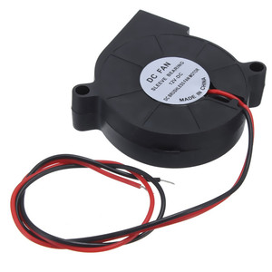 1Pcs Mini 3D Printer 12V DC 50mm Blow Radial Cooling Fan Sleeve Bearing DC Brushless Fan Motor for Electric Blowers
