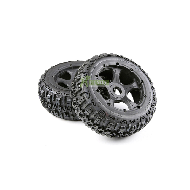 Knobby Front and Rear Wheel Tyre Assembly Kit Fit for 1/5 HPI ROFUN BAHA ROVAN KM BAJA 5B RC CAR Toys PARTS