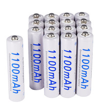 Batteries rechargeables AAA 1.2V AA 3a 1100mAh ni-mh ni mh nimh, batteries à courant haute capacité, 2-24 pièces