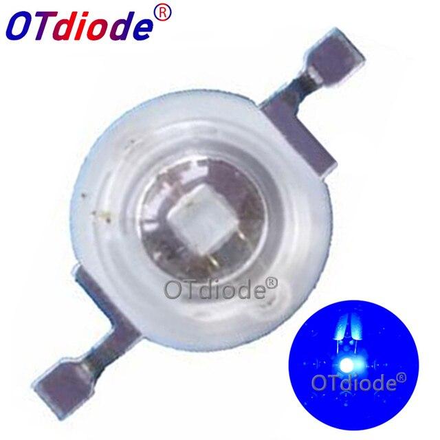 100pcs LED Coltiva La Luce 3W Grow Led Royal Blue 440nm + Blu 470nm Fonte Della Lampada FAI DA TE 10W 20W 30W 50W 100W Lampadina Per 3W Perle di Luce