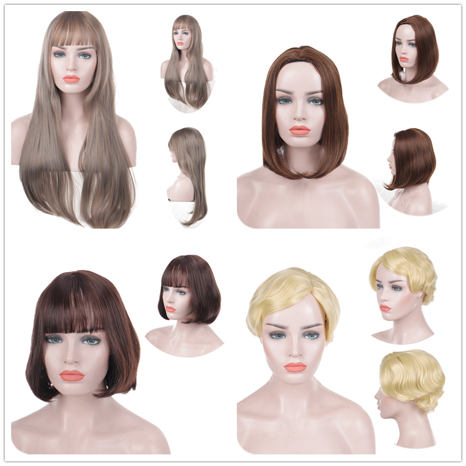 WEILAI Various Styles And Color High Temperature Synthetic Fiber Wigs