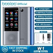 """Boeleo W1 AI voz foto traductor 2,8 """"Pantalla táctil 4G WIFI 8GB memoria 2080mAh 77 idiomas negocios de viaje OTG traducción"""
