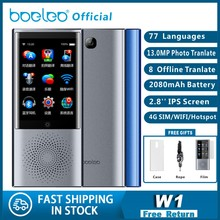 "Boeleo w1 ai 음성 사진 번역기 2.8 ""터치 스크린 4g wifi 8 gb 메모리 2080 mah 77 개 언어 여행 비즈니스 otg 번역"