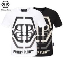 Philipp Plein-marque mode T-shirt PP diamant chaud décontracté à manches courtes T-shirt européen américain haut t-shirts