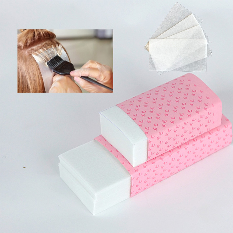 120pcs/pack Pro Salon Hair Dye Paper Disposable Separating Stain Dyeing Color Tool Highlight Tissue Hairdresser Salon Tool