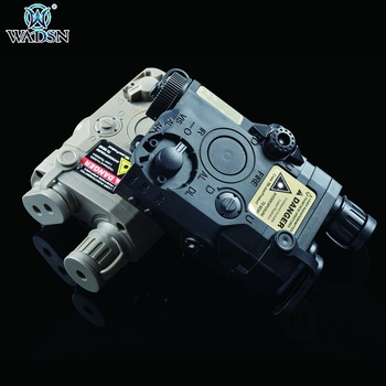 WADSN Airsoft Tactical AN/PEQ-15 Green Red Laser & White Light Function Battery Box Flashlight Weapon Hunting Rifle Accessory