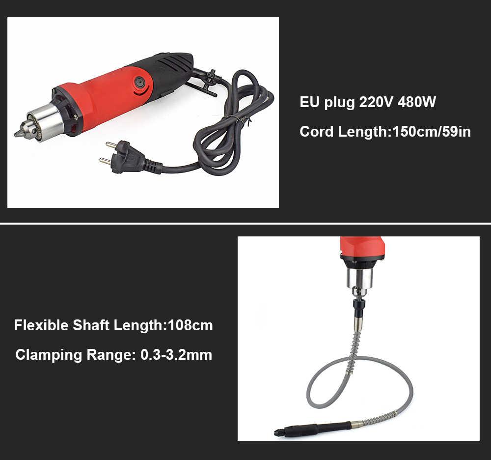 NEWACALOX EU 480W vitesse Variable perceuse électrique rectifieuse ensemble de meuleuse avec gravure polissage Dremel outil électrique rotatif