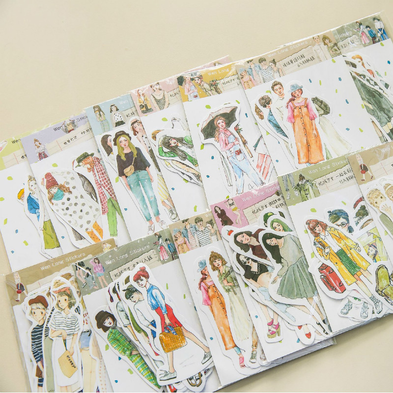 Sweet Girl Series Character Stickers Pack DIY Craft Supplies Scrapboooking Journal Planner Decor Stickers Office School Supplies