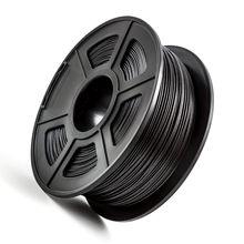Filamento da impressora 3d da fibra do carbono 1.75mm do pla de petg 1kg/2.2lbs para o material composto de grande resistência da impressora de fdm 3d