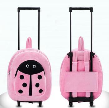 Plecak na kółkach dziewczęcy plecak na kółkach plecak do szkoły plecak na kółkach plecak na kółkach dla dzieci tanie i dobre opinie Weishengda Sztruks Unisex Bagaż podręczny ons Naprawiono kółka European and American Style
