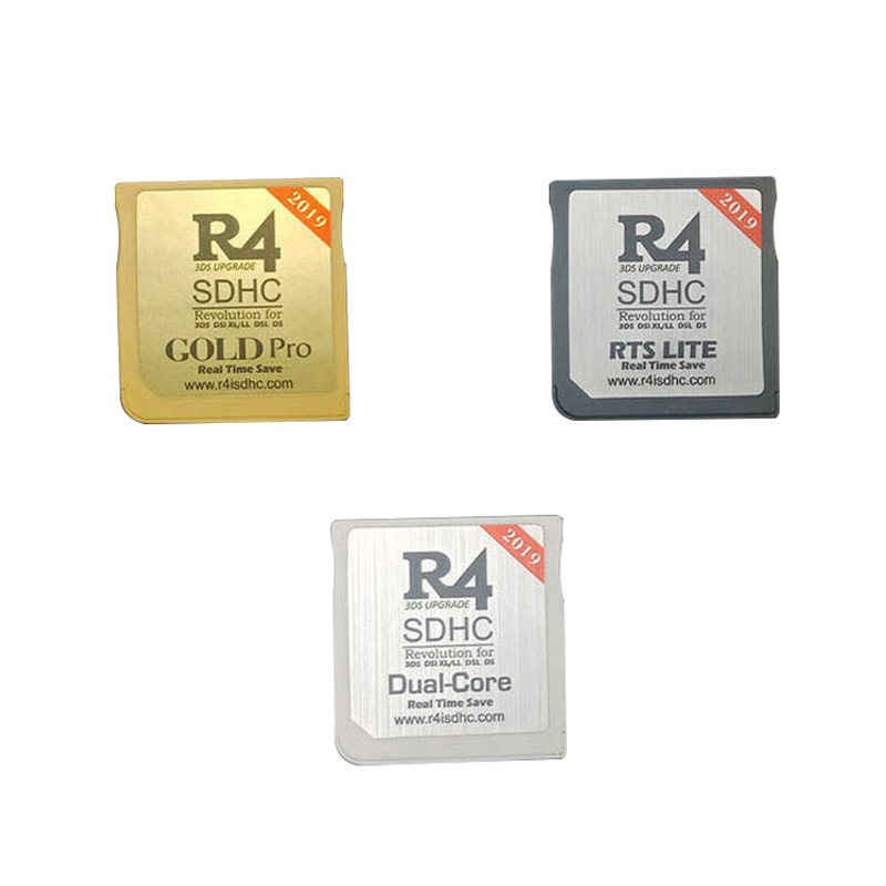 2019 New R4 SDHC USB Adapter With 16G TF SD Card Reader Gold Pro / White / Silver 3 Colors For Nintend NDS / 3DS / 2DS / NDSL