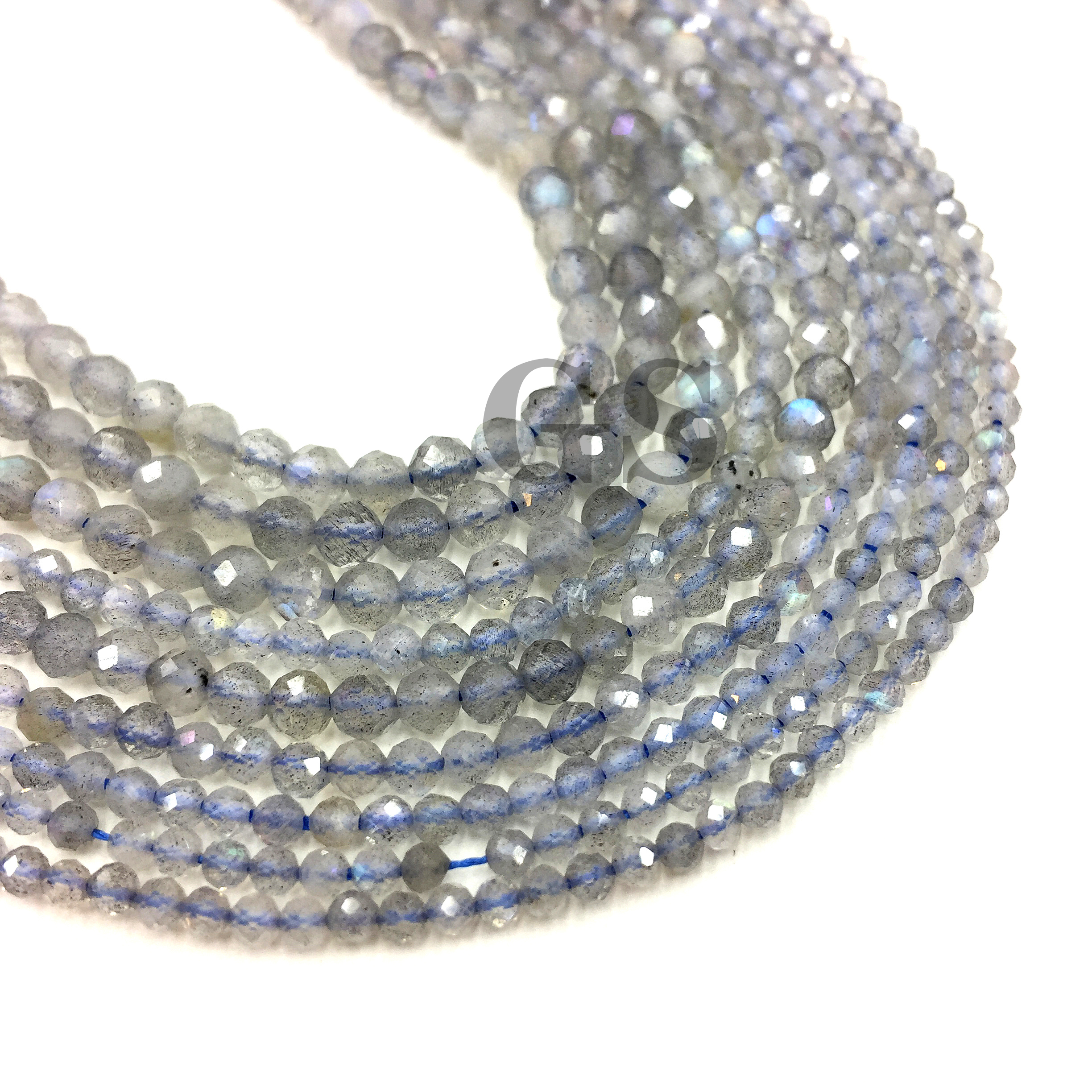Natural Faceted Labradorite Small Size Beads Round Gemstone Round Beads For DIY Jewelry Making Necklace Bracelet Strand 2 3 4mm