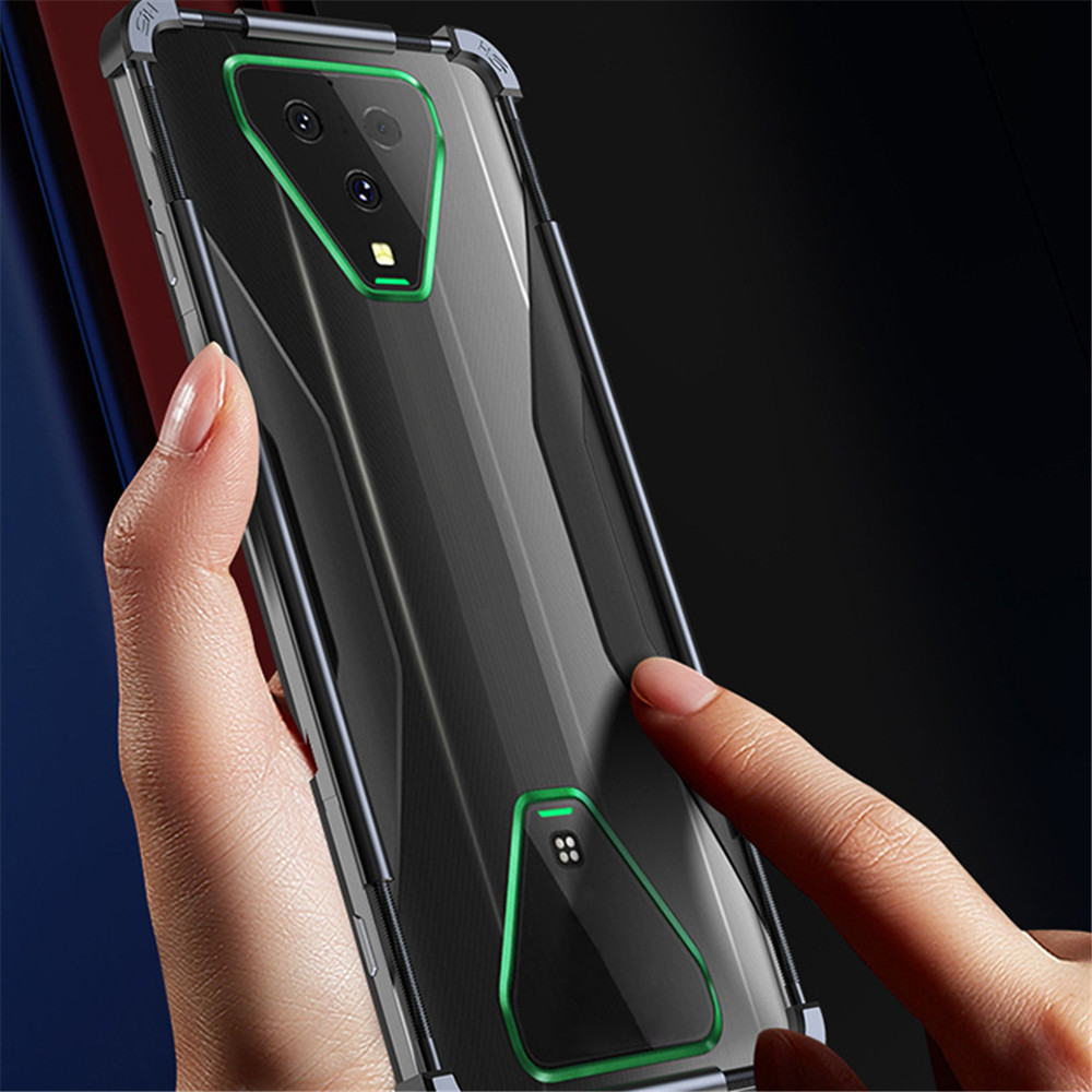 Metal Frame Phone Case for Xiaomi Black Shark HELO 2/ 3 Pro Mobile Phone Accessories Anti-drop Protective Frame Cover