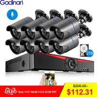 Gadinan 8CH 4MP HDMI POE NVR Kit CCTV Security System 4.0MP 3.0MP Outdoor Audio Record IP Camera Video Surveillance Set 2TB HDD