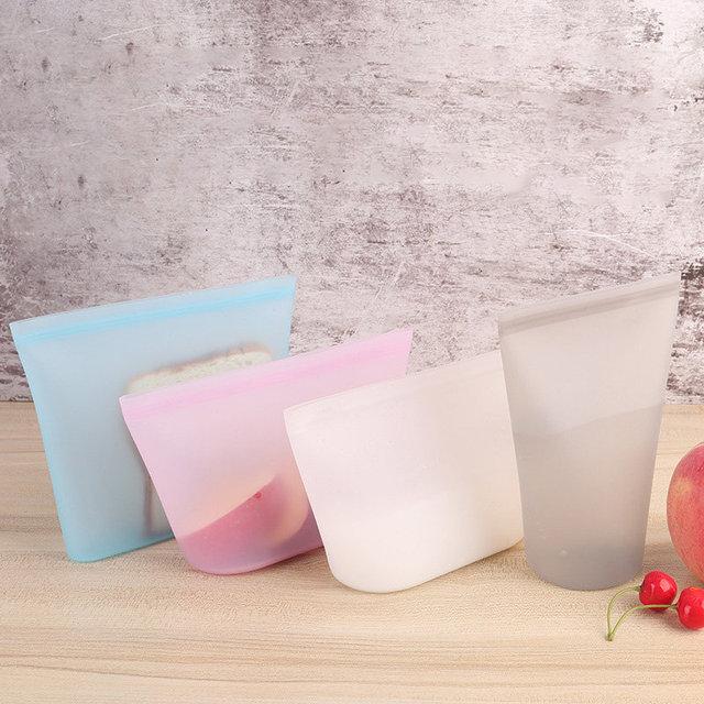 Kitchen Leakproof Zero Waste Silicone Ziplock Bag
