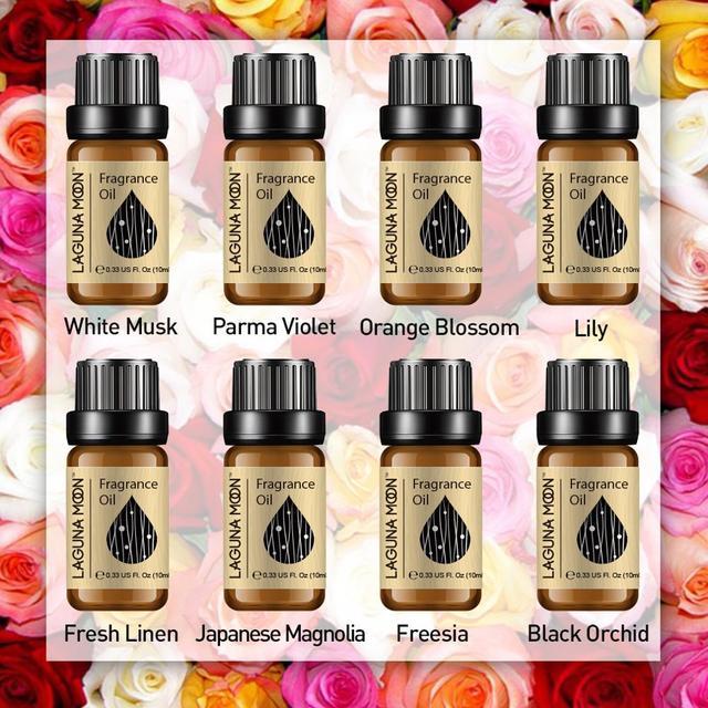 Lagunamoon 10ml Aventus Jadore bricolage huile de parfum fraise fleur d'oranger huile pour bougie savon faisant parfum Air frais diffuseur 4
