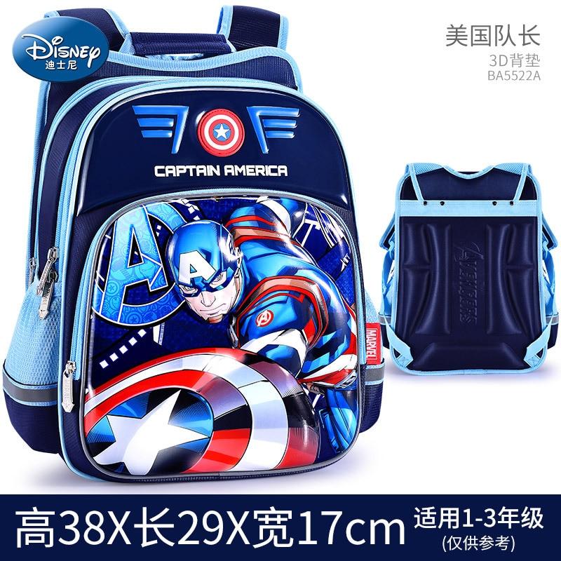 Disney Per Bambini Zaino Ragazzi Sacchetto di Scuola 3-12 Età Spider-Man Iron Man Impermeabile Striscia Riflettente 3D Modello regalo di compleanno 6