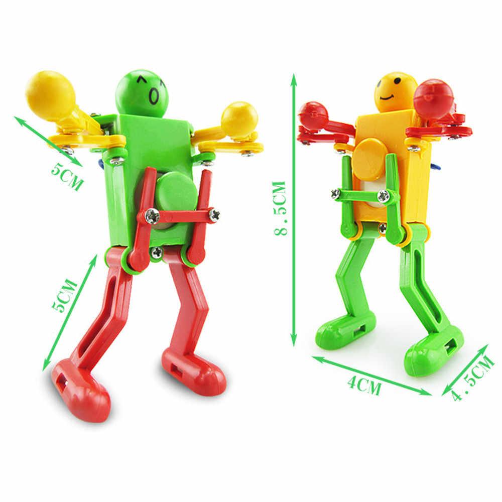 아기 키즈 발달 선물 퍼즐 장난감에 대한 춤 로봇 장난감을 시계 태엽 바람