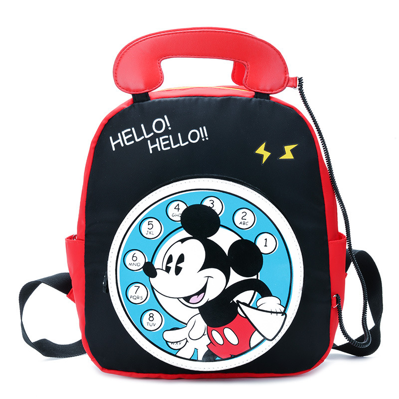 Disney  Minnie Mickey Mouse School Bag Backpack Kids Primary School Student Children Boys Girls 2--6 Years Old Backpack   Gift